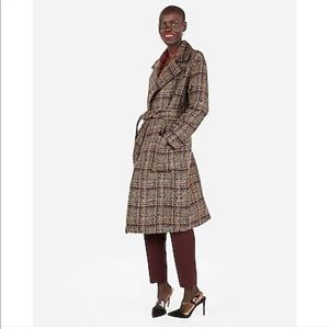 Plaid Express Trench Coat - XS